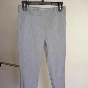 Express Columnist Ankle Mid-Rise Gray Pants Womens